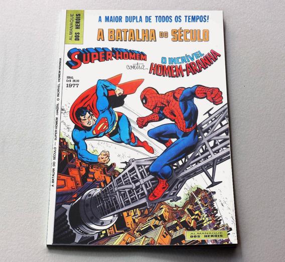 Almanaque Dos Heróis 1977 - Super-man Vs Homem-aranha Ebal
