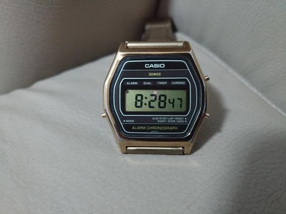 Casio Sa-54 Gold De 1982 Ultrafino Item De Colecionador
