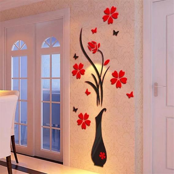 Adesivo Para Decoração Vaso Com Flores 0,80x1,20 15%off