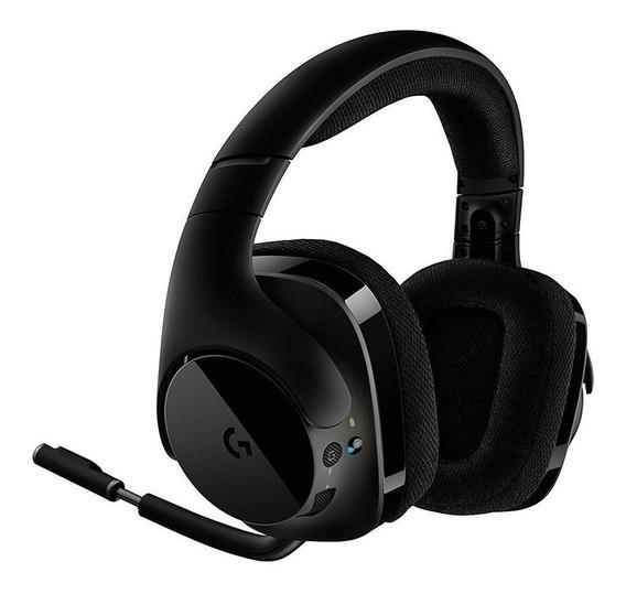 Fone de ouvido sem fio Logitech G533 preto