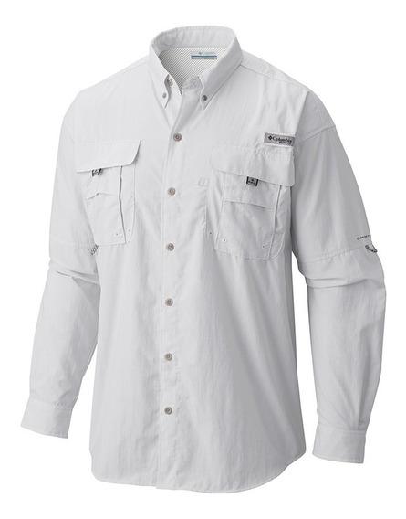 Camisa Hombre Columbia Manga Larga Bahama Filtro Uv