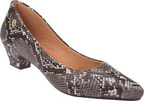 Sapato Feminino Scarpin Salto Baixo Grosso Festa Ref: 36.007