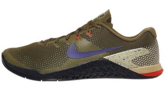 Zapatillas Nike Metcon 4 Hombre Azul Gym Original