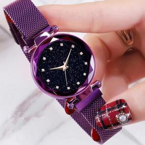 Relógio Feminino Céu Estrelado Sky Ponto Brilhante