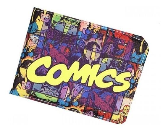 Carteira Geek Nerd Dc Comics Super Herois Hq Marvel