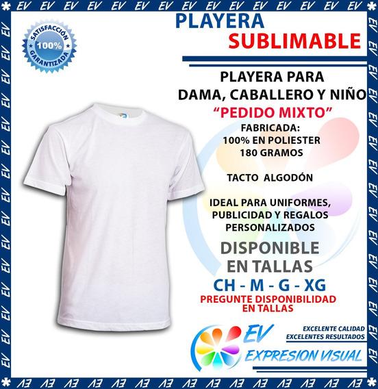 Playera Sublimacion Colormake Tacto Algodón Varia X Cantidad