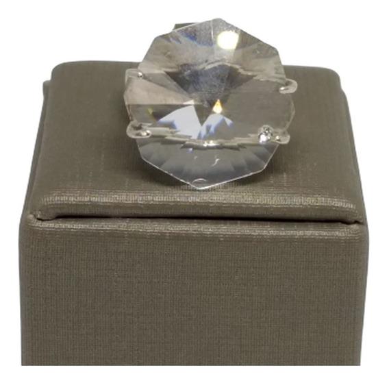 Anel Feminino Aliança Noiva Folheado Ouro 18k Cristal C859