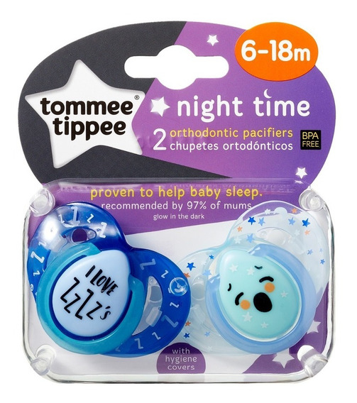 Chupos Nocturnos Tommee Tippee 6-18 Meses (2 Unidades)