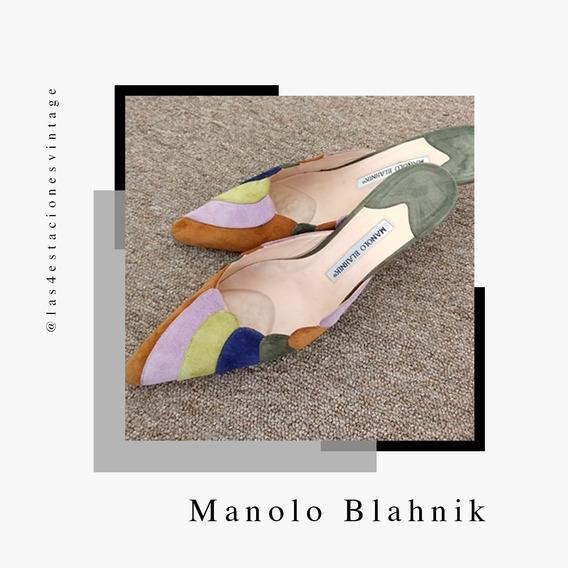 Zapatos Mules Importados. Manolo Blahnik