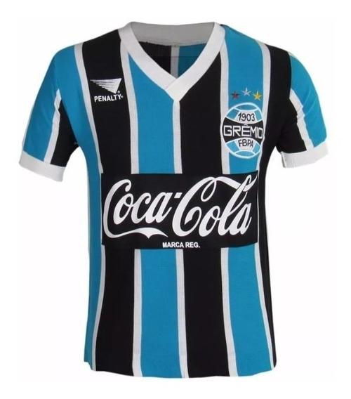 Camisa Retrô Grêmio 1989 Blusa Coca Cola