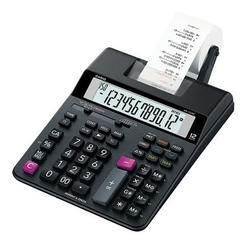 Calculadora Bobina 12 Dígitos Bivolt A+top Hr150rc Casio Nf