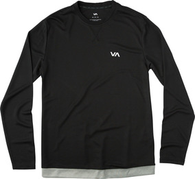 Playera Rvca, Mod. Runner Mesh Ls Shirt, Color Blk.