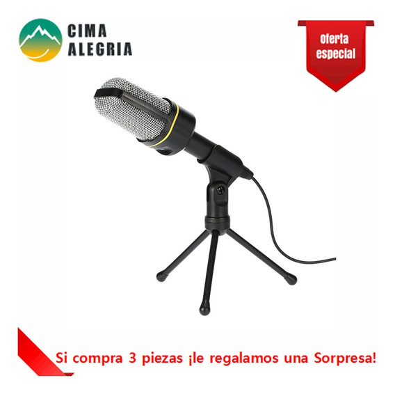 Microfone De Mesa Com Tripe Profissional Podcast Studio