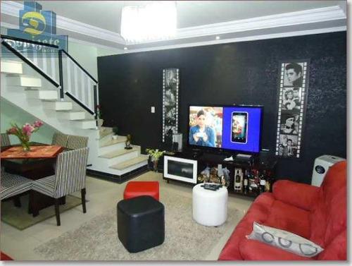 Sobrado Com 3 Dormitórios À Venda, 169 M² Por R$ 780.000,00 - Jardim Bela Vista - Santo André/sp - So0789