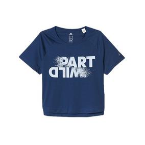 c4ab210963e Camiseta Cropped adidas Climalite Juvenil Moda Fitness Kids