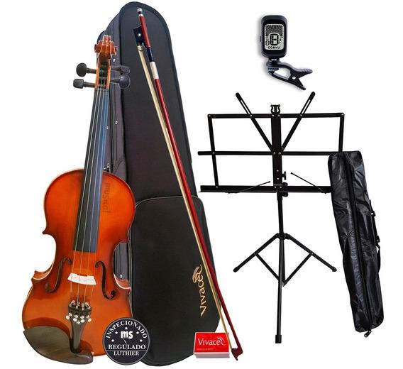 Violino 4/4 Vivace Be44 Kit + Estante + Afinador Promoção!