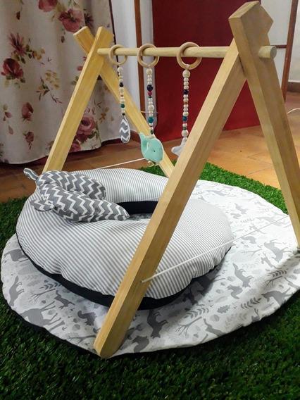 Gimnasio De Madera Montessori Para Bebé - Mod. 1