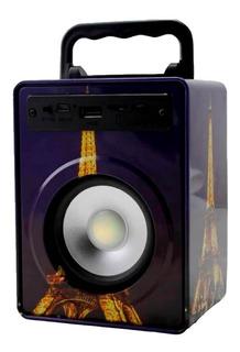 Parlante Inalámbrico Bluetooth Portátil Radio Fm Usb Ssd 01