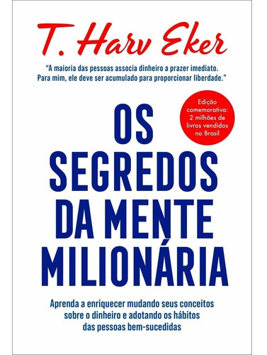 Imagem 1 de 1 de Livro Os Segredos Da Mente Milionária Ed. Luxo Capa Dura