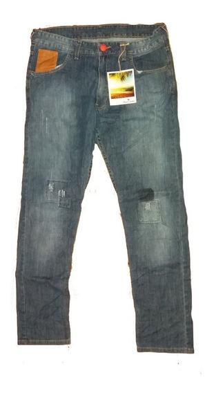 Pantalon Jean Hombre Moderno Recto Bravo