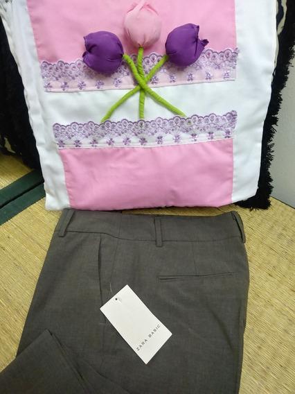 Pantalon De Vestir Color Marron Talla 30
