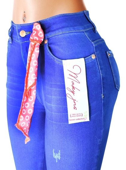 12 Jeans Dama Maky Jeans Colombiano Pushup Mayoreo X Paquete