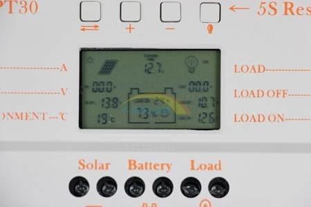 Controlador De Carga Solar Mppt 30a 12/24v Max 50v Com Usb