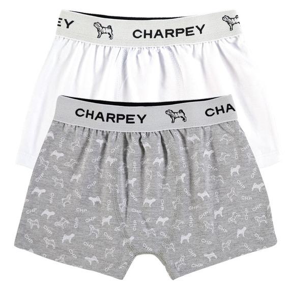 Kit 2 Cuecas Infantil Boxer Estampada Charpey