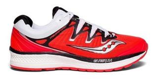 Zapatillas Saucony Triumph Iso 4 Rojo/blanco Mujer Running