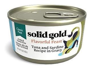 Solid Gold Pate En Gravy Wet Cat Food; Sabor Sabroso Con Mar