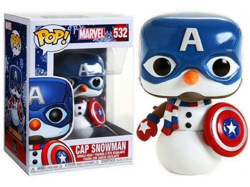Funko Pop Marvel Holiday Captain America Snowman