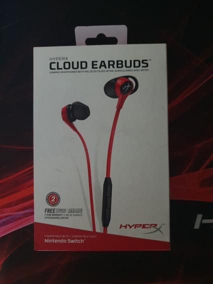 Fone De Ouvido Intra-auricular Hyperx Cloud Earbuds Vermelho