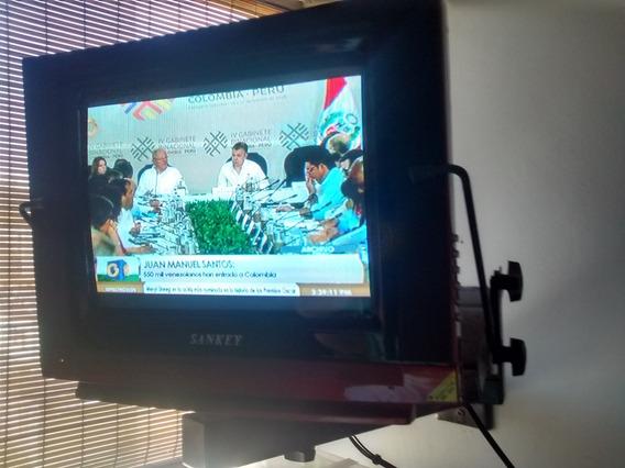 Televisor Sankey 14 Pulgadas Y Base Para Tv Leer Bien
