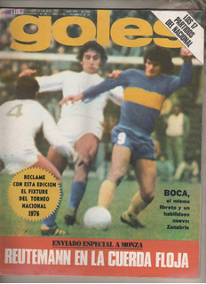 Revista * Goles * N° 1443 Año 1976 Boca Vs Temperley