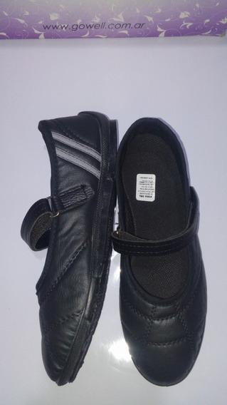 Zapatillas Guillermina Gowel Negras C/abrojo 36.37.38.39.40