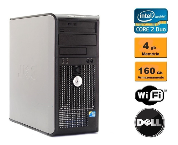 Cpu Dell Optiplex 380 2.9ghz 4gb Ddr3 160gb Wi-fi Seminovo!