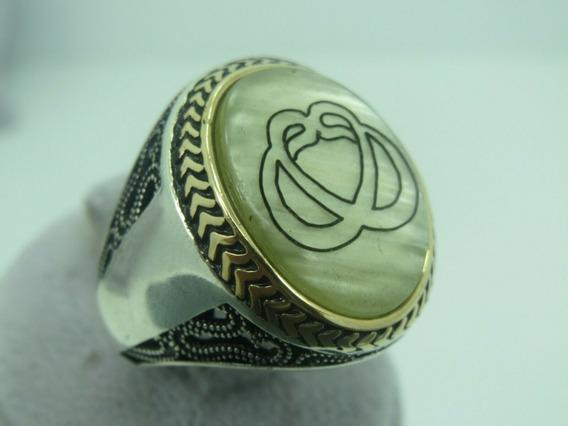 Anillo Turco Otomano De Plata Talla 8 (perla) A181