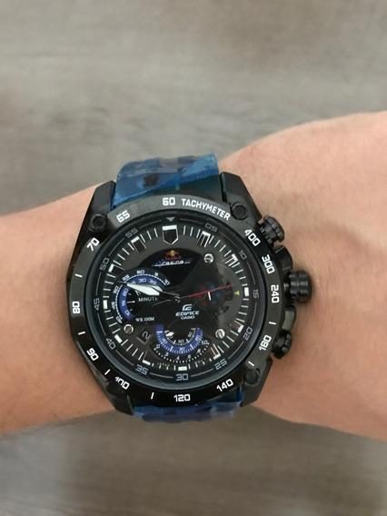 Relógio Casio Edifice Red Bull - Novo - Frete Grátis - Preto