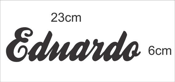 Adesivo Nome ( Eduardo ) 23cm X 6cm Preto Plotter Recorte