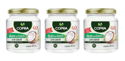 Imagem 1 de 1 de Copra Óleo De Coco Sem Sabor 200ml (kit C/03)