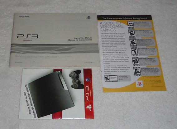 Manual Completo E Original Ps3 Model Cech2501a ** Frete