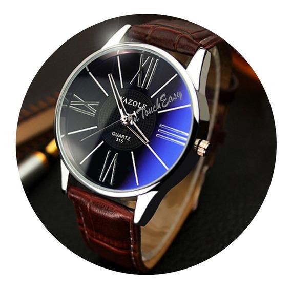 Reloj Yazole Original Koreano Para Caballero + Caja Elegante
