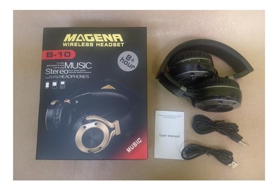 Fone Magena Wireless Bluetooth Funciona Rádio Fm, Cartão Sd