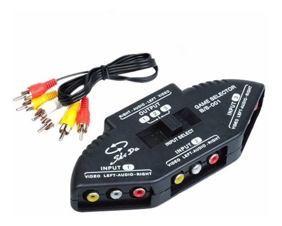 Selector Switch Audio Video 3 A 1 Tv Dvd Ps2 Video C/cable