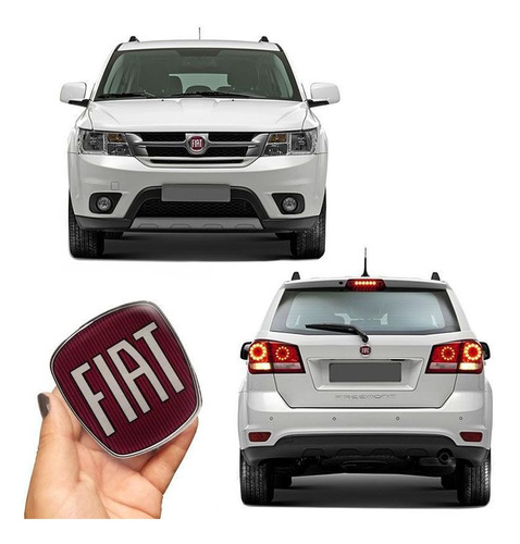 Imagem 1 de 3 de Kit Emblemas Maçaneta Fiat Freemont Dianteiro Traseiro