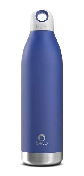 Termo / Botella Térmica Bevu De 550 Ml / 18oz Color Cobalto.
