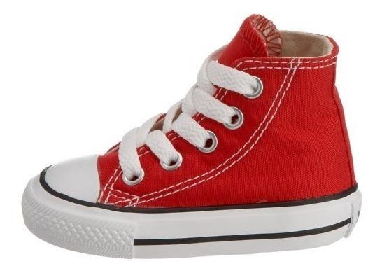 Tenis Converse Bebé Rojo Bota 100% Original
