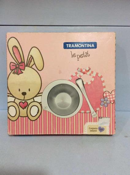 Tramontina Le Petit Conjunto Infantil Aço Inox 3pc 64250-655