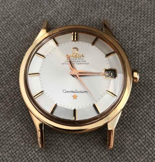 Relógio Omega Constellation Pie Pan Em Ouro Sólido 18k