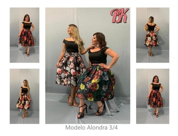 Vestido De Fiesta Modelo Alondra 3/4